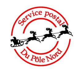 Appliqué Flex Noël Timbre postal 1 / 12 cm
