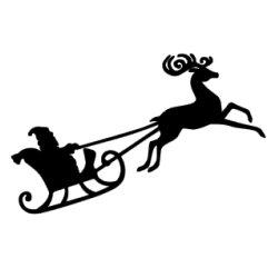 Appliqué Flex Noël traîneau 1 / 14 cm