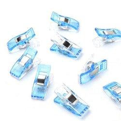 Pince type Clover plastique bleu (lot de 5)