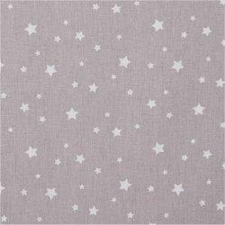 Tissu coton étoile gris
