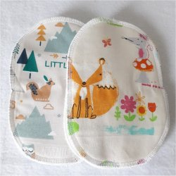 10 lingettes lavables OVALES REF19