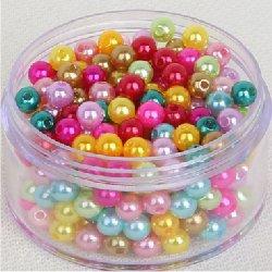 Perle acrylique irisée 10 mm (lot8)