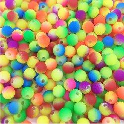 Perle acrylique multicouleurs 10 mm (lot8)