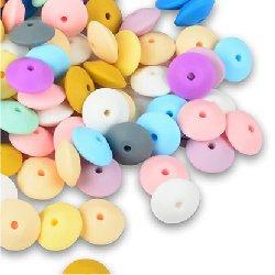 Perle silicone lentilles ~ 15x7 mm unité