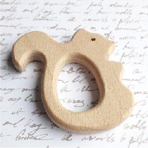 Anneau bois écureuil 7 cm