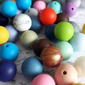 Perle silicone ronde 15 mm unité