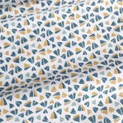 Tissu coton triangles couleurs pastel
