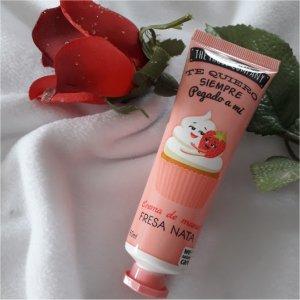 Crème main parfum fraise chantilly