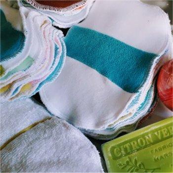 Vente Flash - 10 Lingettes lavables patchwork 7